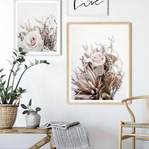 Love hand scripted wall art print